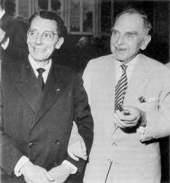 Frédéric Joliot and Otto Hahn